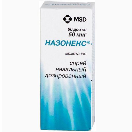 Назонекс, 50 мкг/доза, 60 доз, спрей назальный дозированный, 10 г, 1шт.