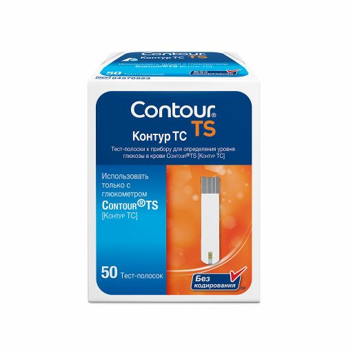 Contour TS Тест-полоски, тест-полоска, 50шт.