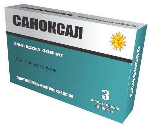 Саноксал, 400 мг, таблетки жевательные, 3шт.