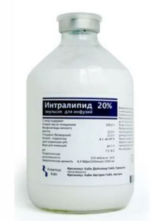Интралипид, 20%, эмульсия для инфузий, 500 мл, 10шт.