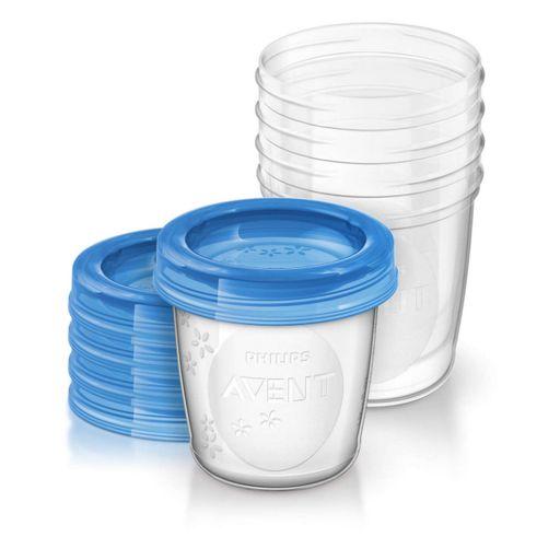 Набор контейнеров для грудного молока Philips AVENT, SCF619/05, 180 мл, 5шт.