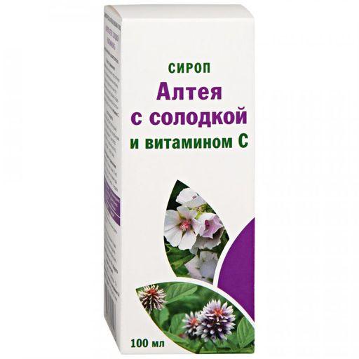 Сироп алтея с солодкой и витамином С, сироп, 100 мл, 1шт.