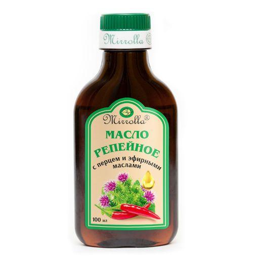 Mirrolla Репейное масло с перцем и эфирными маслами, масло косметическое, 100 мл, 1шт.