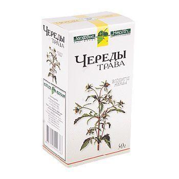 Череды трава, сырье растительное измельченное, 50 г, 1шт.