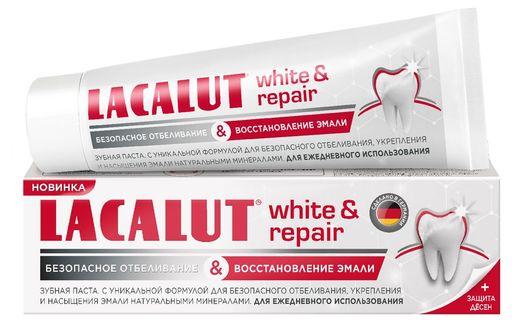 Lacalut White&Repair зубная паста, паста зубная, 75 мл, 1шт.