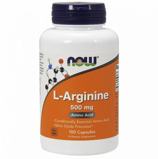 NOW L-Аргинин, 500 мг, капсулы, 100шт.