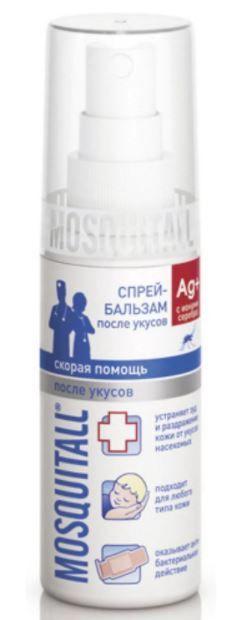 Mosquitall Скорая помощь после укусов спрей-бальзам, бальзам, 50 мл, 1шт.