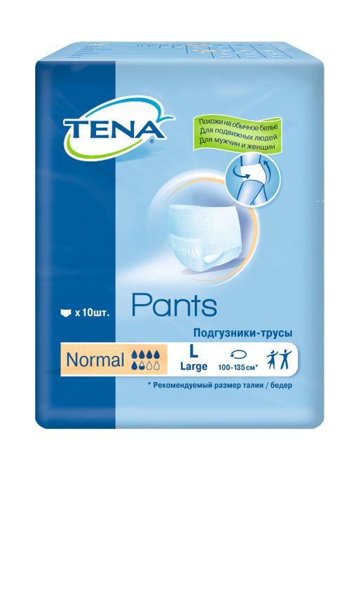 Подгузники-трусы для взрослых Tena Pants Normal, Large L (3), 100-135 см, 10шт.