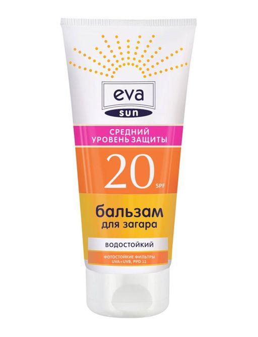 Eva Sun Бальзам для загара SPF20, бальзам для лица и тела, влагостойк., 200 мл, 1шт.