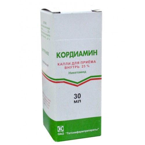 Кордиамин, 25%, капли для приема внутрь, 30 мл, 1шт.