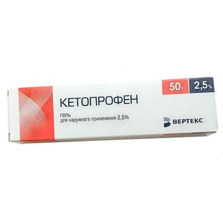 Кетопрофен, 5%, гель для наружного применения, 50 г, 1шт.