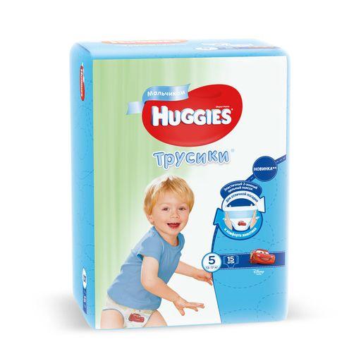 Huggies Подгузники-трусики детские, р. 5, 13-17 кг, для мальчиков, 15шт.