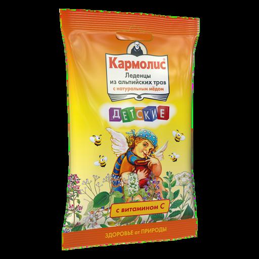 Кармолис Леденцы с медом и витамином С, леденцы, для детей, 75 г, 1шт.
