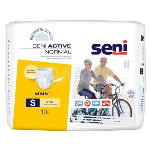Подгузники-трусы для взрослых Seni Active Normal, Small S (1), 55-85 см, 10шт.