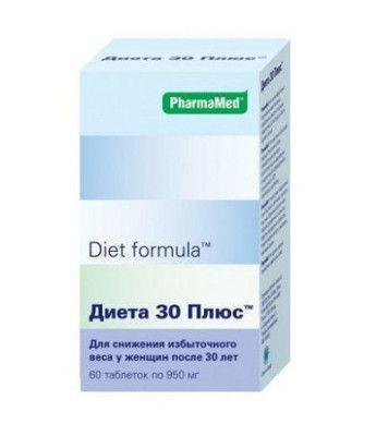 Diet formula Диета 30 плюс, 950 мг, таблетки, 60шт.