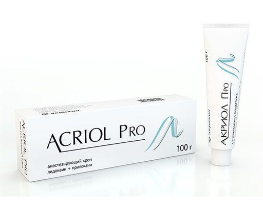 Акриол Про, 2.5%+2.5%, крем для местного и наружного применения, 100 г, 1шт.