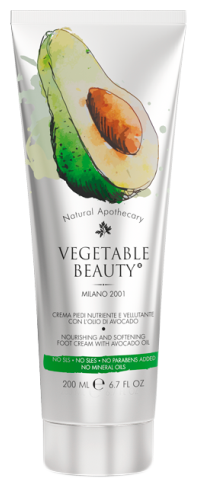 Vegetable Beauty Крем для ног с маслом авокадо, крем для ног, 200 мл, 1шт.