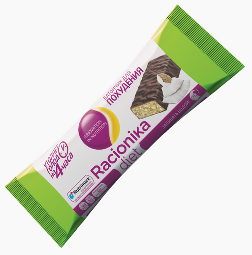 Racionika Diet батончик, со вкусом кокоса, 60 г, 1шт.