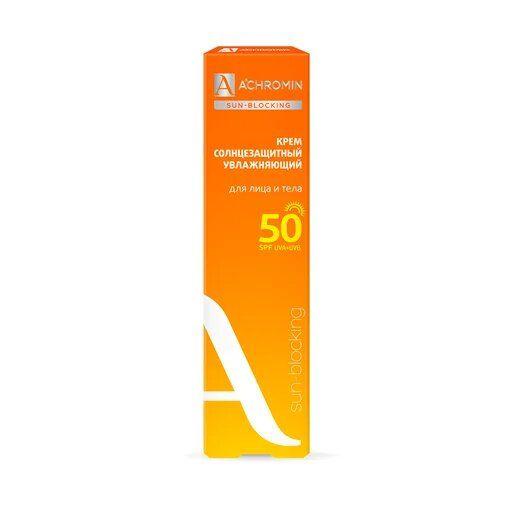 Achromin Крем солнцезащитный Экстра-защита SPF 50, для лица и тела, 100 мл, 1шт.