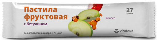 Витатека Пастила фруктовая Яблочная, 27 г, 1шт.