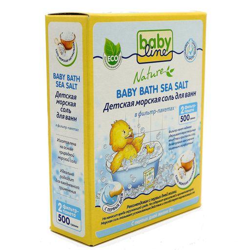 Babyline Nature соль морская детская для ванн, соль для ванн, натуральная, 250 г, 2шт.