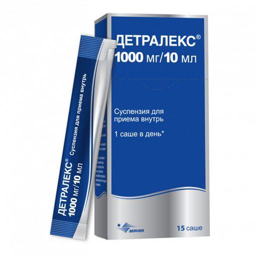 Детралекс, 1000 мг/10 мл, суспензия для приема внутрь, 10 мл, 15шт.