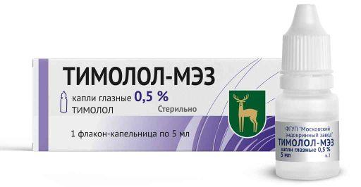 Тимолол-МЭЗ, 0.5%, капли глазные, 5 мл, 1шт.
