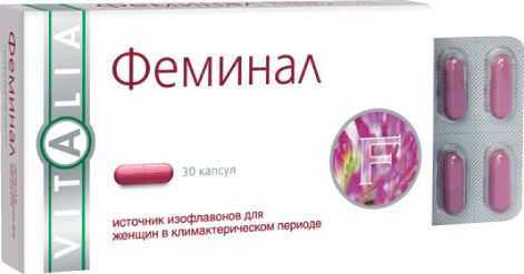 Феминал, 160 мг, капсулы, 30шт.
