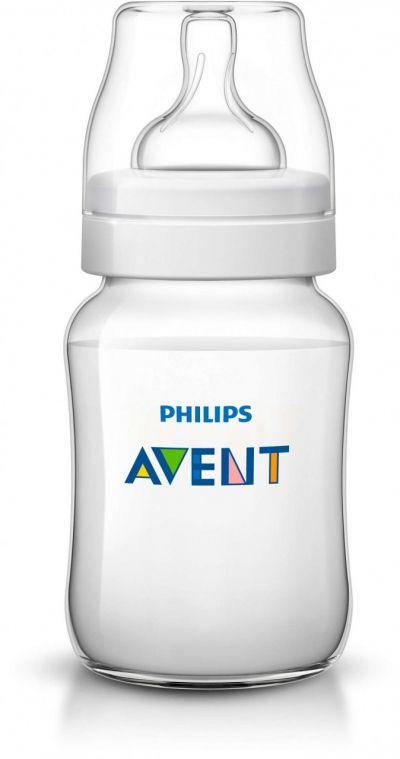 Бутылочка Philips AVENT Classic+ полипропиленовая, 260 мл, 1шт.
