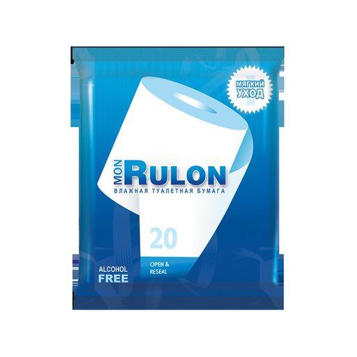 Бумага туалетная влажная Mon Rulon, 20шт.