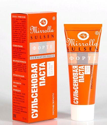 Mirolla Сульсен Форте Сульсеновая паста против перхоти, 2%, паста для наружного применения, 75 мл, 1шт.