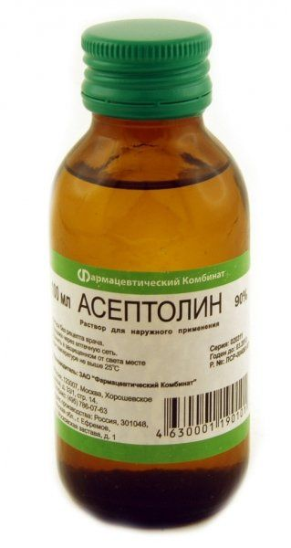 Асептолин, 90%, раствор для наружного применения, 100 мл, 1шт.