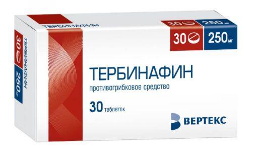 Тербинафин, 250 мг, таблетки, 30шт.