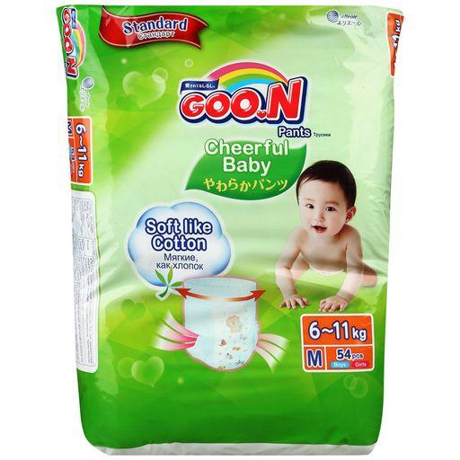 Подгузники-трусики детские GOON, 6-11 кг, M, 54шт.