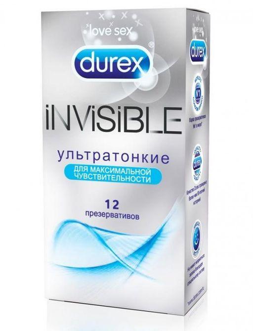 Презервативы Durex Invisible, презерватив, ультратонкие, 12шт.