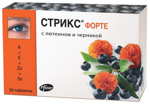 Стрикс форте, 500 мг, таблетки, 30шт.