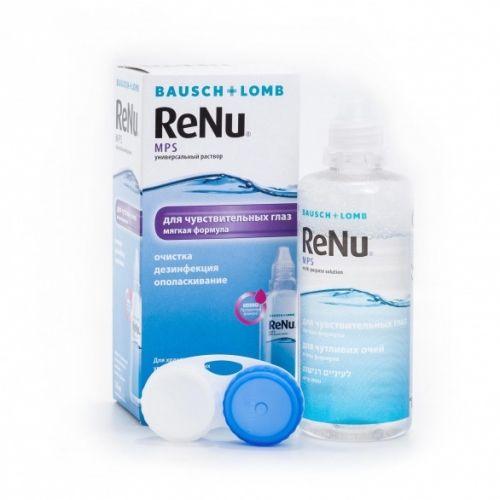ReNu MPS для чувствительных глаз, раствор для обработки и хранения мягких контактных линз, 120 мл, 1шт.