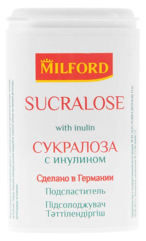 Milford Sucralose Заменитель сахара с инулином, таблетки, 370шт.