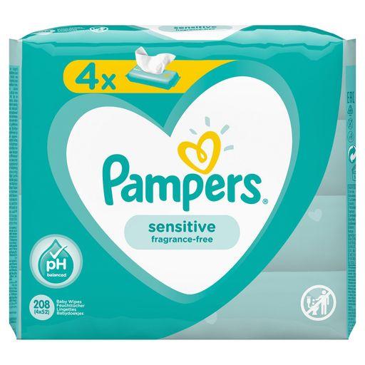 Pampers Sensitive Салфетки влажные детские, 208шт.
