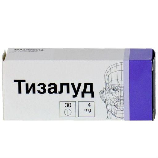 Тизалуд, 4 мг, таблетки, 30шт.