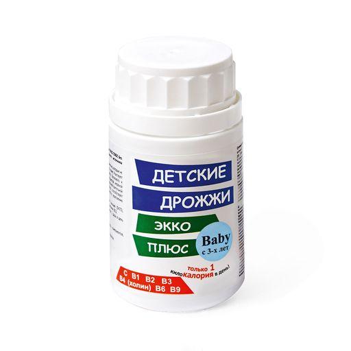 Дрожжи Экко Плюс Детские, 0.45 г, таблетки, 100шт.