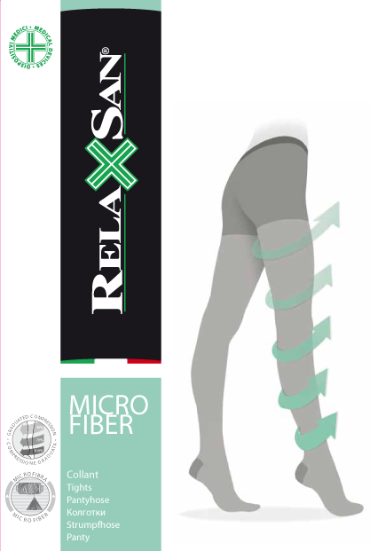 Relaxsan Collant Micro Колготки профилактика с микрофиброй, р. 3, арт. 780M (12-17 mm Hg), 70 DEN (черные), 1шт.