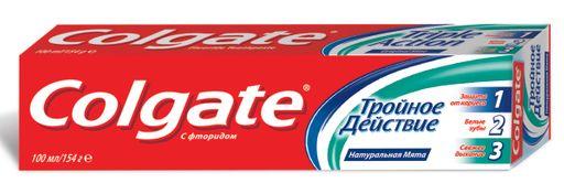 Colgate Тройное Действие зубная паста, паста зубная, 100 мл, 1шт.
