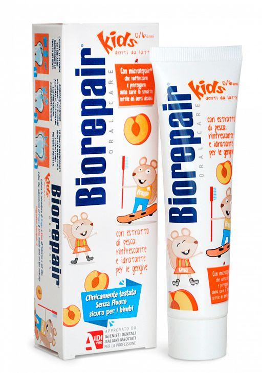 Biorepair kids Peach паста зубная детская, паста зубная, персик, 50 мл, 1шт.