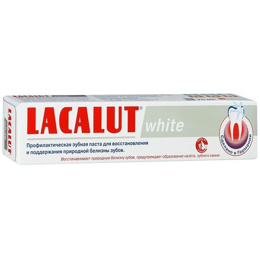 Lacalut White Зубная паста, паста зубная, 50 г, 1шт.