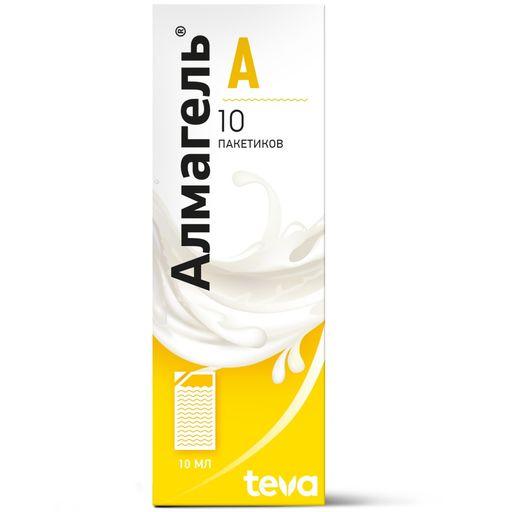 Алмагель А, суспензия для приема внутрь, 10 мл, 10шт.