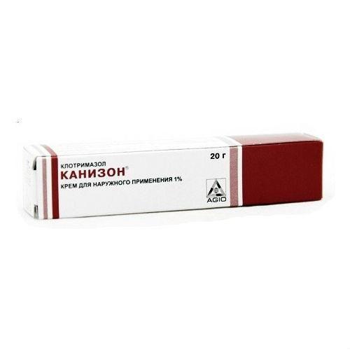 Канизон, 1%, крем для наружного применения, 20 г, 1шт.