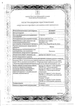 Зеникс сертификат