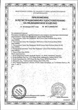 Accu-Chek Performa Тест-полоски сертификат