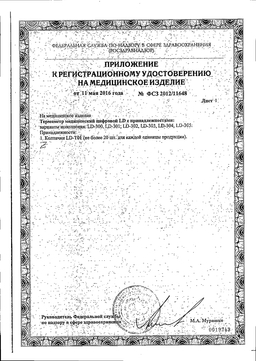 Термометр медицинский цифровой LD-300 сертификат